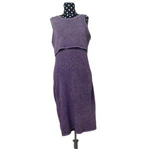 Olive + Oak Ombre Purple Sleeveless Dress Small
